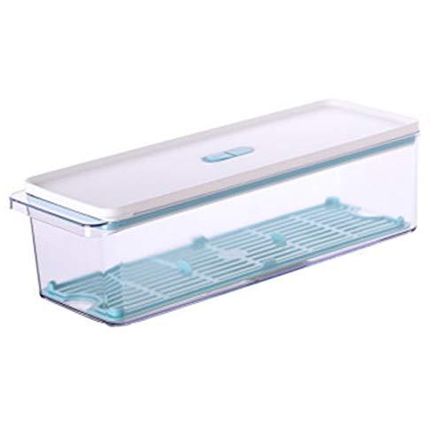 GODLOVEWORLD Caja de Almacenamiento para frigorífico con riel Deslizante Caja de Almacenamiento para frigorífico Transparente para Verduras y Frutas (2 Piezas)