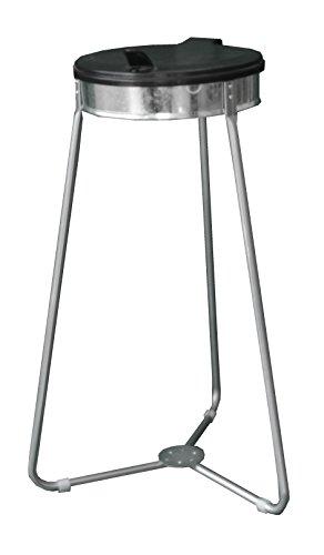 CleanMate Dreibein Müllsackständer MSS-1-3S, für 70L oder 120L Sack, Abfallsammler, Mülleimer, Abfallsackhalter, Müll-Gestell, Schwarz