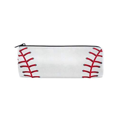 Linomo Federmäppchen Baseball Druck Sport Ball klein Mäppchen Federtasche Schüleretui Bleistift Beutel für mädchen teenager junge kinder