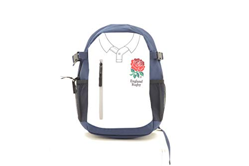 USP England RFU Rugby Official Licensed Shirt Design Team Kit Multi Compartment Rucksack, weiß, 31 x 14 x 41.5 cm