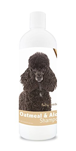 Healthy Breeds Dog Oatmeal Shampoo With Aloe For Poodle - Over 75 Breeds – 16 Oz - Mild And Gentle...