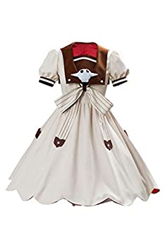 Adult Nene Yashiro Dress Toilet-Bound Hanako-kun Cosplay Costume Deluxe Suits with Accessories for Women  Small White