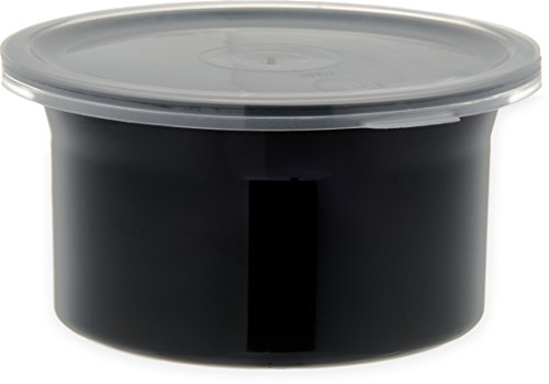 Purchase Carlisle 030003 Solid Color Commercial Round Storage Container with Lid, 0.6 Quart Capacity...