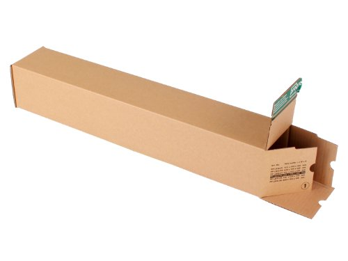 progressPACK PP LB10.04 Lot de 10 tubes d'expédition universels Premium en carton ondulé Marron DIN A1 610 x 105 x max 105 mm