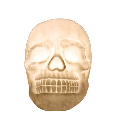 SUTIA Lámpara de escritorio esqueleto, control remoto de siete colores extraño simulación esqueleto Pat lámpara, luz nocturna de compulsión que cambia de color