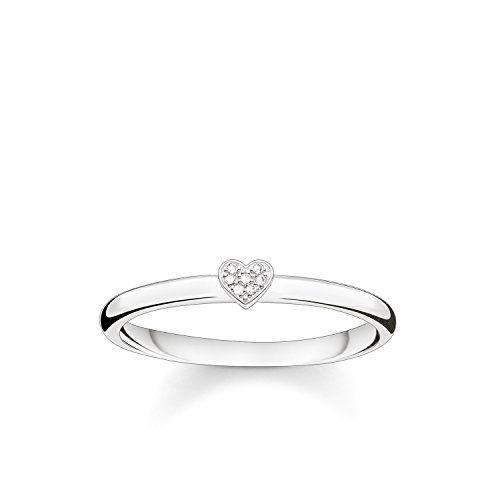 Thomas Sabo Damen-Ring Glam & Soul 925 Silber Diamant (0.05 ct) weiß Gr. 54 (17.2) - D_TR0014-725-14-54
