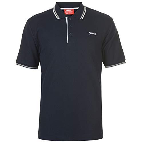 Slazenger Tipped Herren Polo Poloshirt T Shirt Kurzarm Classic Fit Tee Top XXL