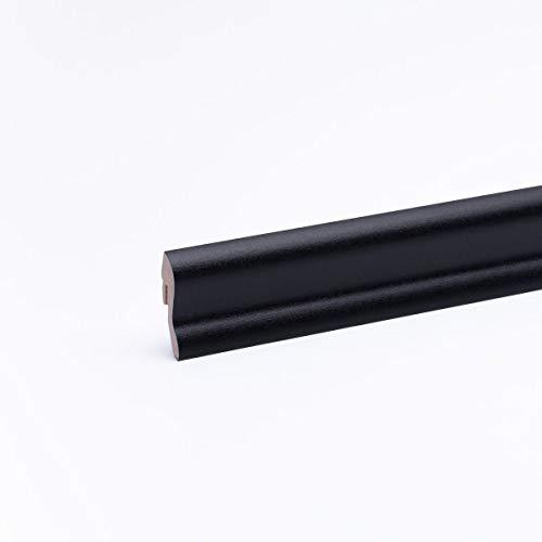 Sockelleiste - Fußleiste 40 x 22 x 2.600mm Dekor Schwarz