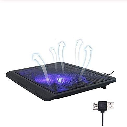 ZUIZUI Radiador portátil 12 14 Pulgadas 5V USB Laptop Externo de enfriamiento de la computadora de enfriamiento 140 mm LED de Alta Velocidad Delgada Ventilador silencioso Placa de Metal