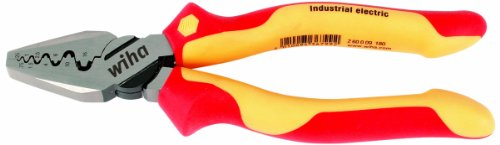 Wiha 32945 7-Inch Insulated Industrial Crimping Pliers by Wiha