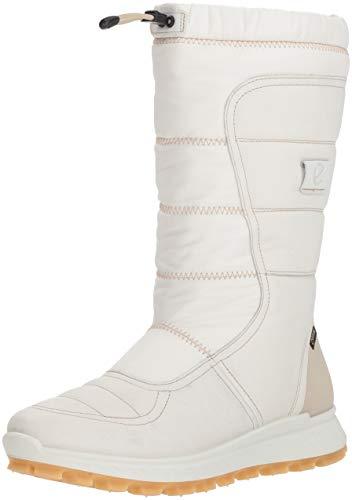 ECCO Women's EXOSTRIKE Gore-TEX Tall Snow Boot, White, 40 M EU (9-9.5 US)