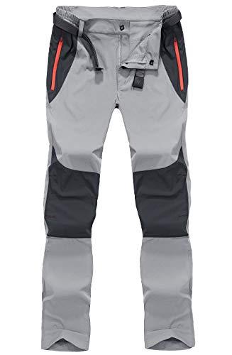 BIYLACLESEN Hiking Pants Mens Quick Dry Pants Men Work Pants Waterproof Pants Men Tactical Pants Lightweight Pants Fishing Pants Zipper Pockets