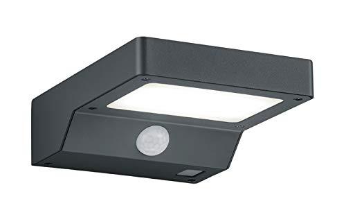 Reality Leuchten LED Solar Außenwandleuchte Fomosa R22281142, Kunststoff anthrazit, Bewegungsmelder, inkl. 4.5 Watt LED