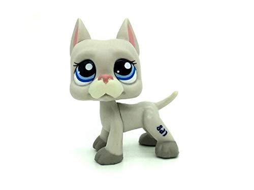 WOOMAX Littlest Pet Shop Juguete LPS RARA Gris Gran Dan¨¦s Cachorro de Perro Ojos Azules LPS # 1688 para ni?os ni?as ni?os Regalo