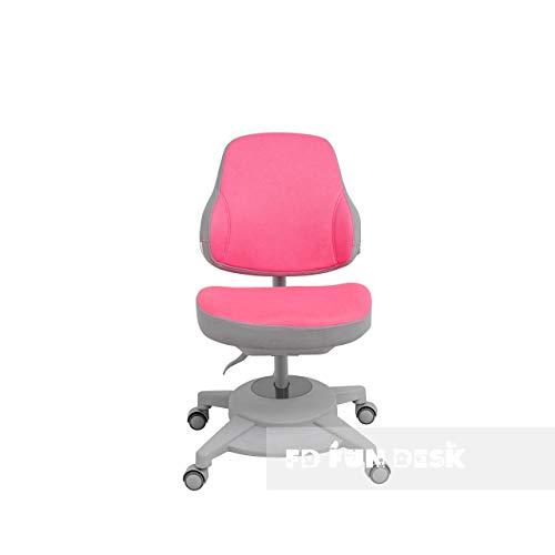 FD FUN DESK Agosto Pink-Sedia ergonomica da scrivania per bambini, regolabile in altezza, colore: Rosa, 680x460x785 mm
