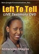 LEFT TO TELL * THE RWANDA'S SLAUGHTER*CONVERSION STORY W/ IMMACULEE IIIBAGZIA SJC 1-DISC DVD