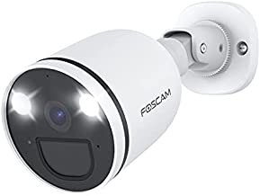 Foscam 2K/4MP 2.4G/5G Wifi Spotlight Camera, Color Night Vision, Built-in Siren Alarm, AI Human Detection, PIR Sensor, 2-Way Audio, 121° View, IP66 Weatherproof Outdoor Security Camera, SPC