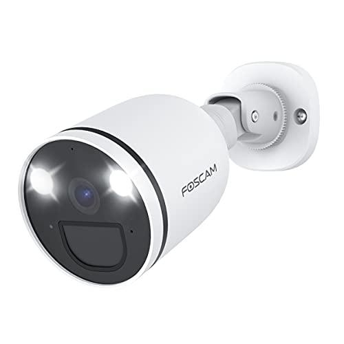 Foscam Cámara de vigilancia exterior de 2 K/4 MP con foco, 2,4 G/5 G, wifi, cámara IP con visión nocturna a color, audio de 2 vías, detección de movimiento + PIR, detección de personas AI