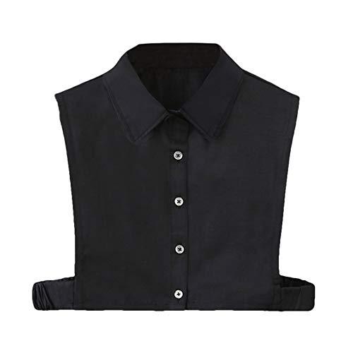 Camiseta de cuello falso, sin mangas, para mujer, desmontable, cuello falso, para mujer o hombre, oficina, para trabajo