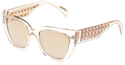 Just Cavalli JC782S-57G Gafas de sol, Shiny Beige/Mirror Brown, 53 para Mujer