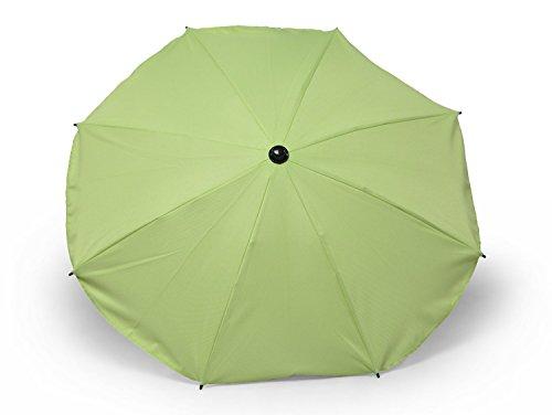 Universal Sonnenschirm Regenschirm für Kinderwagen und Sport Buggy, Babywagen Schirm mit Universal Halterung, UV-Schutz50+ Sonnensegel Sonnenschutz (Pistazie)