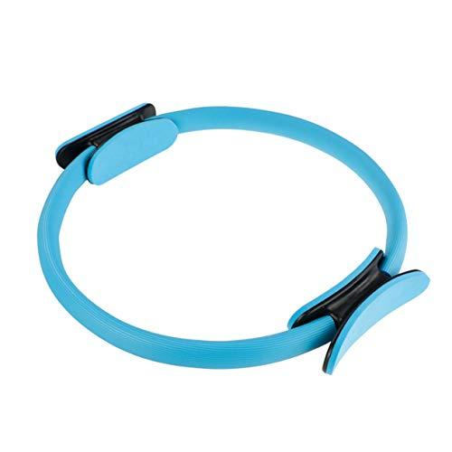 Biyi professionelle Fitness Magic wrap Yoga Pilates Ring abnehmen Bodybuilding Training Yoga Kreis Gym Workout Training Tool (blau)