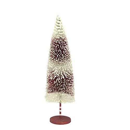 Darice Christmas Bottlebrush Tree: Red/White, 4.5 x 16 inches