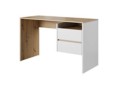 E-com - Mesa de Escritorio Artemis - 125 cm Artisan/Blanco