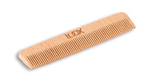 Peine de madera LUQX (peine de peluquería con púas gruesas, peine para mechones y pelo rizado, para estilo de peinado a mano, peine afro de madera)