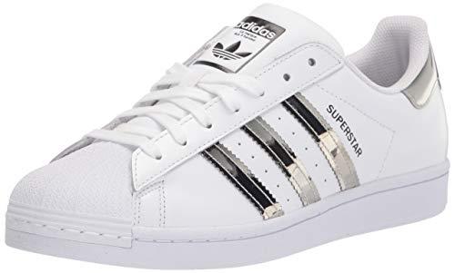 adidas Originals Women's Superstar Sneaker, White/Silver Metallic/Core Black, 6.5 M US
