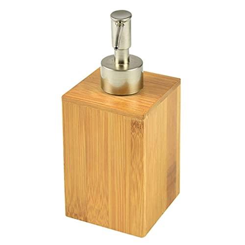 Dispensador de jabón de Botella con Bomba, Botella desinfectante de Manos de bambú ecológica con Empuje, Bomba antioxidante Recargable para baño y Cocina, Utilizada para loción, Aceite Esencial, jab
