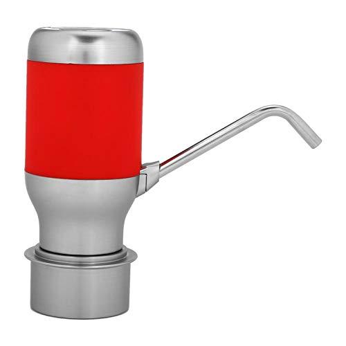 Surebuy Dispensador de Agua de Bomba de Botella de Agua Recargable USB para Oficina para el hogar(Red)