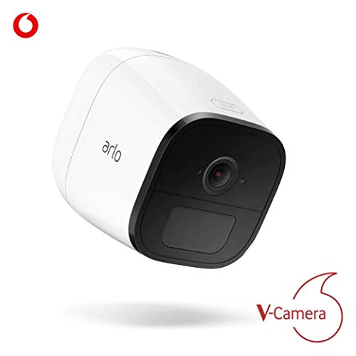 V-Camera Arlo Go by Vodafone - LTE Überwachungskamera inklusive Sim-Karte, weiss + 3 Monate Service Gutschein (kostenfreies Datenpaket)