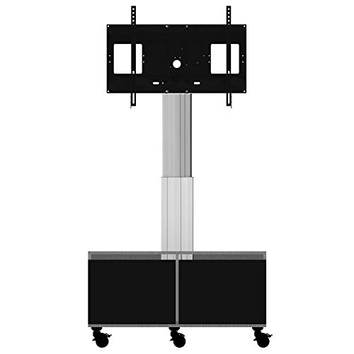 celexon Expert electric height adjustable display trolley Adjust-4286MS with cabinet and connection panel - 50cm