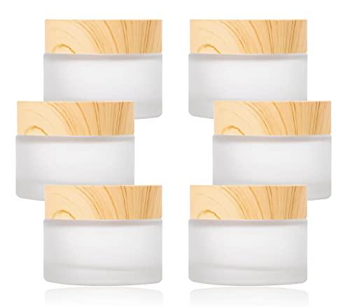 YAXIDAEVER 30ml Kosmetikbehälter mit Deckel, 6 Stück Creme Dose, Cremedose Leer, Deckel für Cremes Makeup Speicher, für Cremes Makeup Speicher Kosmetik Cremes Lotionen ätherische Öle