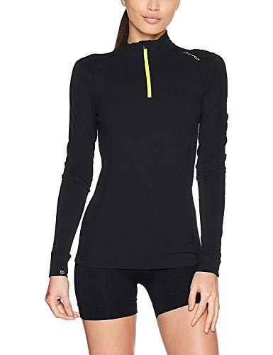ORTOVOX Damen 145 Ultra Zip Neck Shirt, Black Raven, M