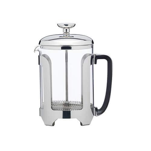KitchenCraft Le\'Xpress Deluxe Kaffeebereiter, Glas, Edelstahl, 350 ml 4 Tassen metallisch