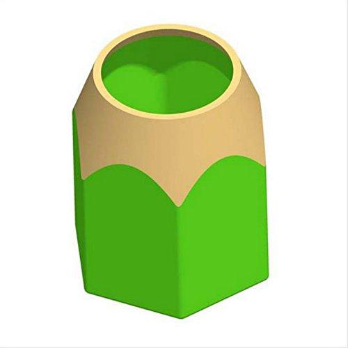 PPuujia Soporte para brochas de maquillaje, contenedor de escritorio y papelería, moderno y creativo, para bolígrafos o lápices (color: verde)