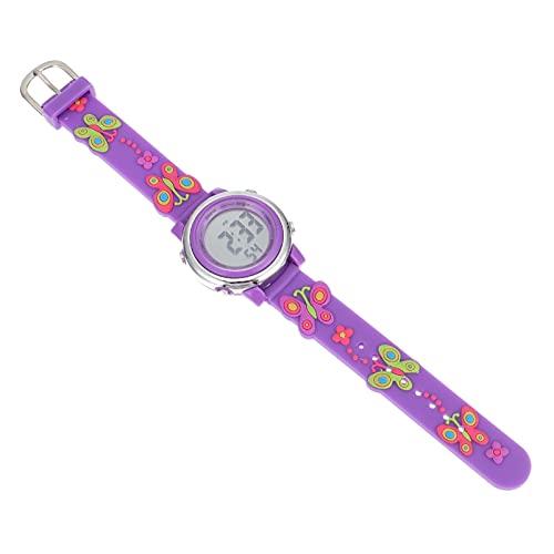 ABOOFAN Reloj de pulsera luminoso precioso de la historieta reloj electrónico digital para los niños