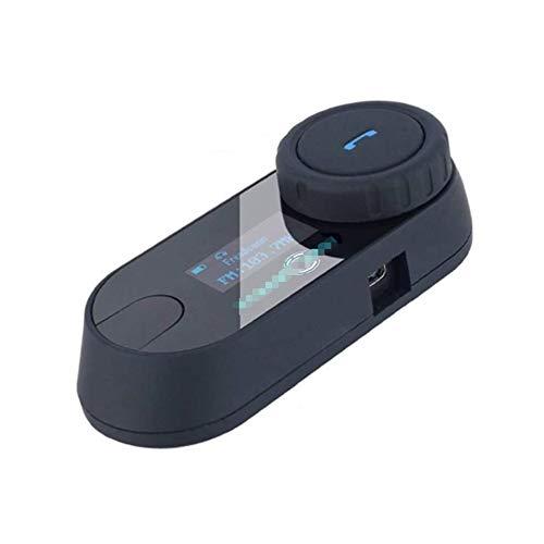 Liapianyun Motocicleta Intercom TCOM SC, Casco Auricular Bluetooth De Intercomunicación para La Motocicleta Pantalla LCD Esquí/Radio FM/Altavoz,1