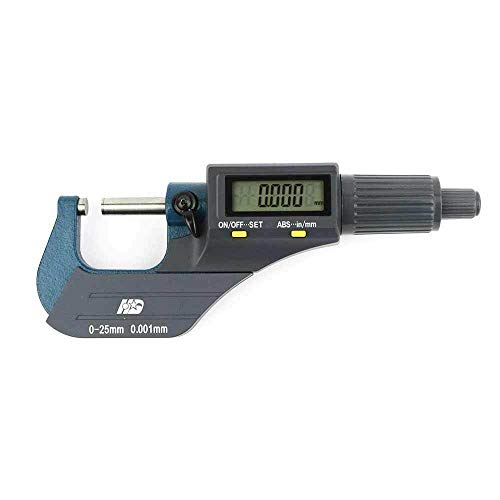 'Equipment and Tools for You' 0-1'/0.00005' Electronic Outside Micrometer Carbide Tip Large LCD EDM-1 asd-1-7-104