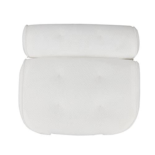 GWGW Almohada de baño 3D Net BAÑO Baño Deslizante de la Cabeza de la Cabeza del baño de succión del Fondo(Blanco uno)