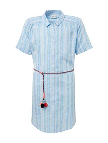 TOM TAILOR Mädchen Kleider & Jumpsuits Gestreiftes Blusenkleid y/d Stripe Vertical|Multicolor,152