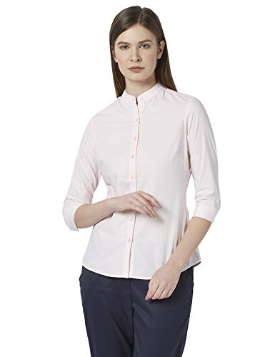Park Avenue Woman Solid Light Red Coloured Woman Polyester Blend...