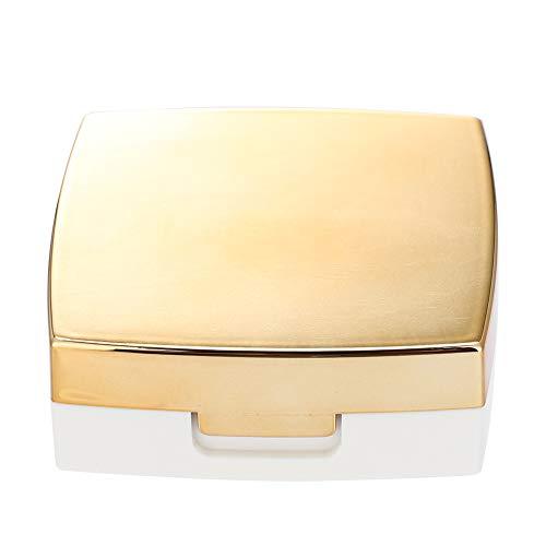 【𝐏𝐫𝐢𝐦𝐚𝒗𝐞𝐫𝐚 𝐕𝐞𝐧𝐝𝐢𝐭𝐚】 Lenti a Contatto Colorate, Custodia per Lenti Mini, Leggera e Leggera, Custodia per Lenti a Contatto, Oro Rosa per Uso Domestico Bianco(Golden)
