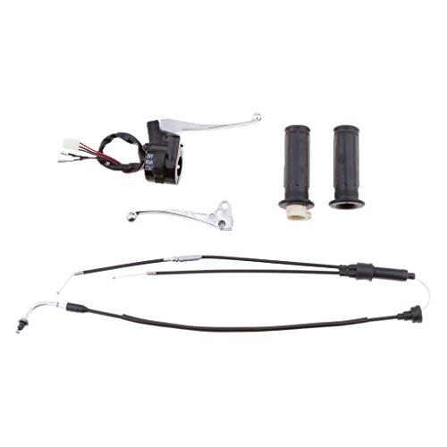 KESOTO Schalter Bremshebel Handgriffe Kit Kettensäge ersatzteile Kits mit 2 Stücke Handgriffe für Yamaha PW 50