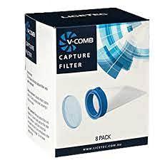 v-comb Licetec v-comb elettrico anti-pidocchi filtri di ricambio