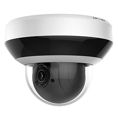 Anpviz Security 4.0MP POE IP PTZ Dome Camera, Hikvision Compatible 4X Optical, 16X Digital Zoom, H.265+ Outdoor Mini Security Camera with Audio, Alarm, SD Card Slot #PTZIP204WX4IR
