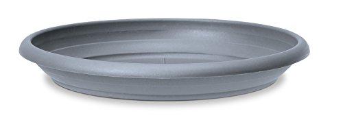 Scheurich Untersetzer aus Kunststoff, Pure Grey, 20 cm Durchmesser, 2,7 cm hoch