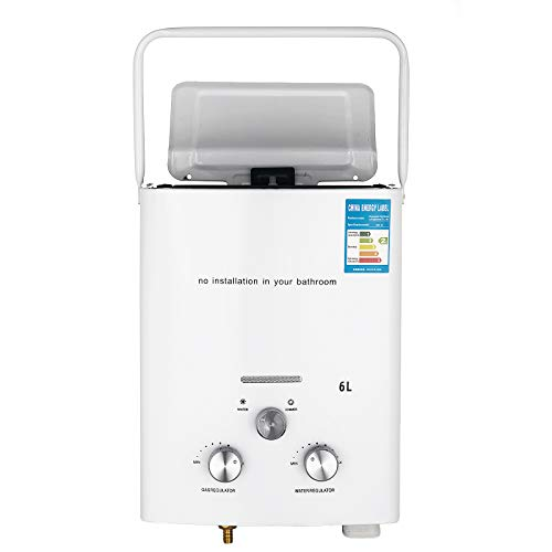 Bisujerro 6L Calentador de Agua Portátil LPG Calentador de